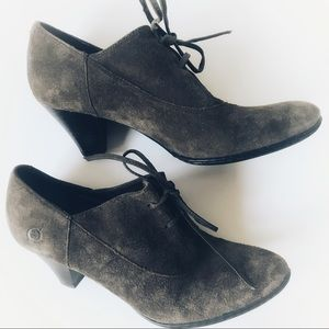 Born suede lace up booties